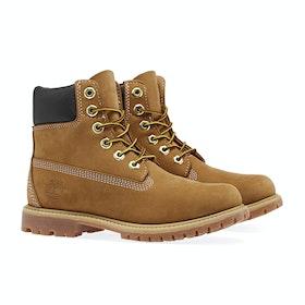 Timberland Icon 6in Premium Waterproof Women's Boots - Wheat Nubuck