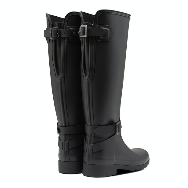 Hunter Ref Back Adjustable Tall Ankle Starp Ladies Wellington Boots