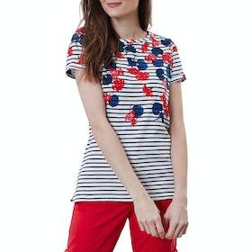Joules Nessa Print Women's Short Sleeve T-Shirt - Lilypad Border Stripe