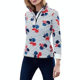Joules Saunton Printed Women's Sweater - Navy Lilypad Stripe