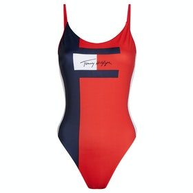 Tommy Hilfiger One Piece Women's Swimsuit - Pitch Blue