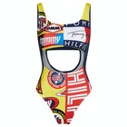Tommy Hilfiger Cheeky One Piece Cut Out Womens 水着
