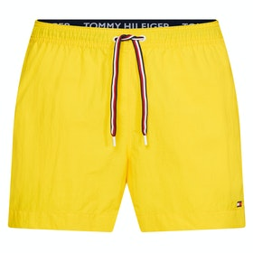 Tommy Hilfiger Plain Medium Drawstring Swim Shorts - Bold Yellow