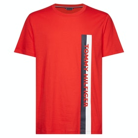 Tommy Hilfiger Crew Neck Short Sleeve T-Shirt - Red Glare