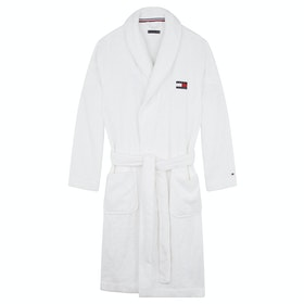 Dressing Gown Tommy Hilfiger Towelling Robe - Pvh Classic White
