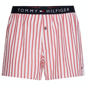 Tommy Hilfiger Woven Print Boxer Shorts - White Iriscope