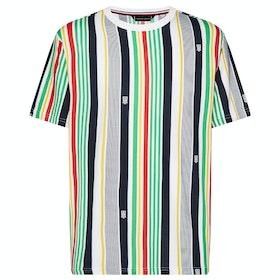 Tommy Hilfiger Drop Shoulder Print Kurzarm-T-Shirt - Tommy Flag Jeans Print