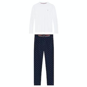Tommy Hilfiger Jersey Men's Pyjamas - Pvh White Navy Blazer