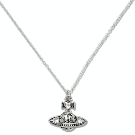 Vivienne Westwood Odelina Small Bas Relief Pendant Necklace - Antique Rhodium