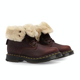 Dr Martens 1460 Kolbert Snowplow Waxy Suede Women's Boots - Dark Brown Mustang