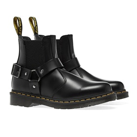 Dr Martens Wincox Damen Stiefel - Black Polished Smooth