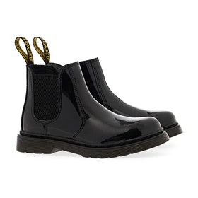 Dr Martens 2976 Kid's Boots - Black Patent Lamper