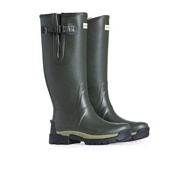 Hunter Balmoral Bamboo Carbon Side Adjustable Men's Wellington Boots