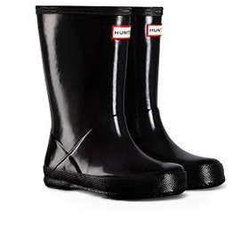 Hunter New First Gloss Kinder Gummistiefel - Black