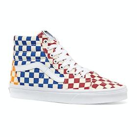Vans Sk8-hi Checkerboard Shoes - Multi True White