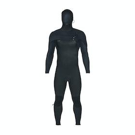 O'Neill Hyperfreak 4/3+ Chest Zip Hooded Wetsuit - Black Black