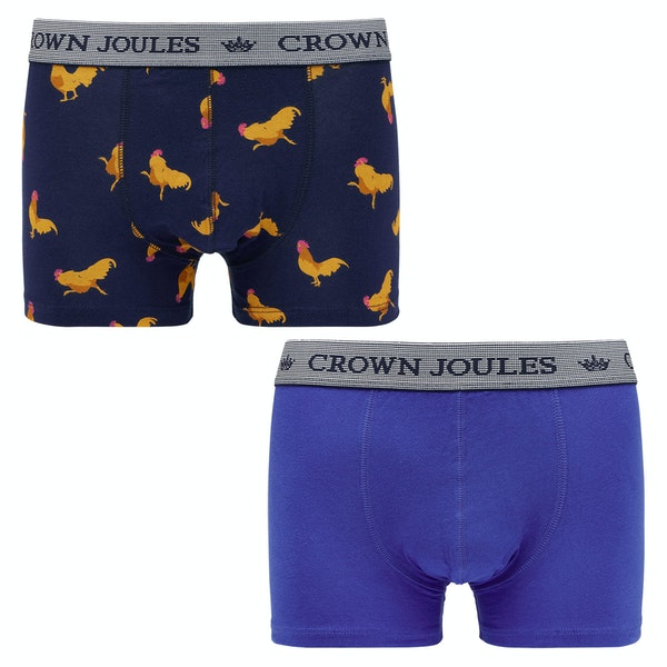 Joules Crown Joules 2 Pack Herre Boxershorts