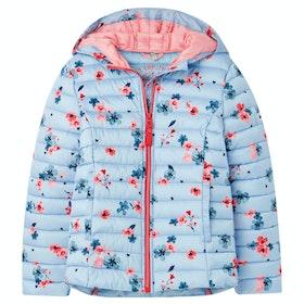 Joules Kinnaird Print Girl's Jacket - Blue Posey