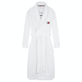 Dressing Gown Женщины Tommy Hilfiger Towelling Robe Signature - Pvh Classic White