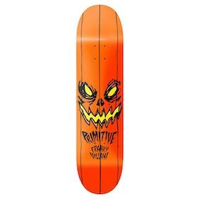 Primitive Villani Pumpkin Skateboard Deck - Black
