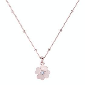 Ted Baker Hamlyi Heart Flower Pendant Damen Necklace - Rose Gold Crystal