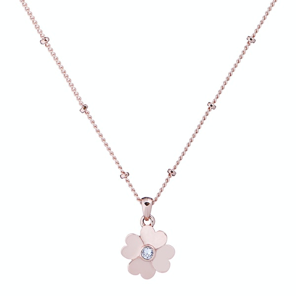 Necklace Donna Ted Baker Hamlyi Heart Flower Pendant