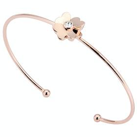 Ted Baker Hazarii Heart Flower Ultrafine Cuff Damen Bracelet - Rose Gold Crystal