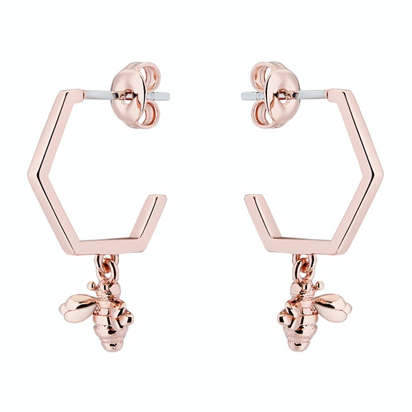 Ted Baker Bedza Bumble Bee Hoop Womens Earrings