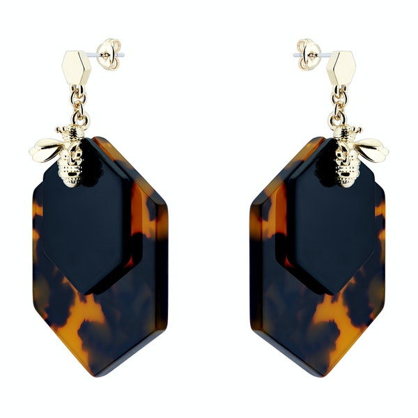 Ted Baker Honzza Bumblebee Honeycomb Womens Earrings