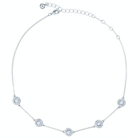 Ted Baker Lamarra: Daisy Pearl Choker Womens Necklace - Silver/pearl/crystal