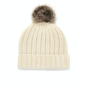 Peregrine Made In England Ribbed Ladies Beanie - Ecru
