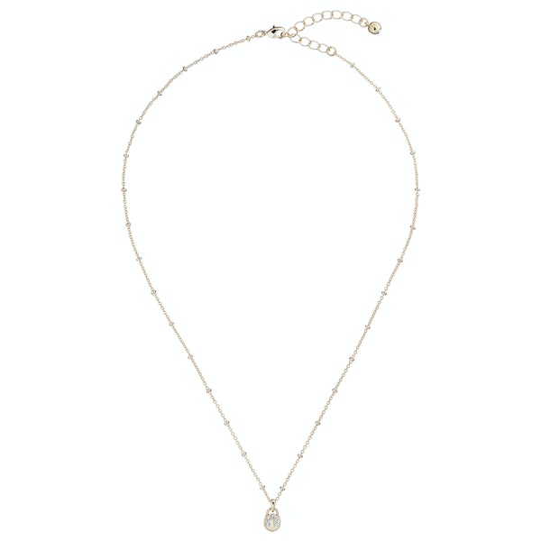 Ted Baker Pamarri: Mini Pave Padlock Charm Pendant Womens Necklace