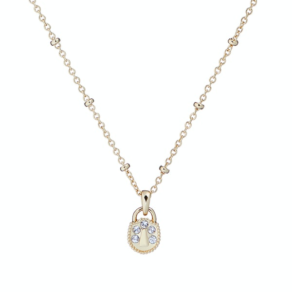 Ted Baker Pamarri: Mini Pave Padlock Charm Pendant Women's Necklace