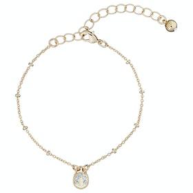 Ted Baker Pasinni: Mini Pave Padlock Charm Bracelet - Gold/crystal