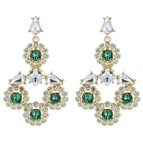 Ted Baker Lralina Daisy Crystal Daisy Large Drop Earrings - Gold/green Multi