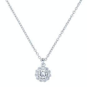 Ted Baker Lramza Daisy Crystal Daisy Pendant Necklace - Silver/crystal