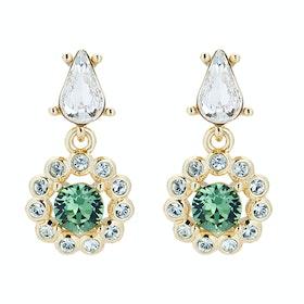 Ted Baker Lranha Daisy Crystal Daisy Drop Earrings - Gold/green Multi