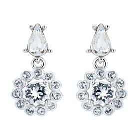 Ted Baker Lranha Daisy Crystal Daisy Drop Earrings - Silver/crystal