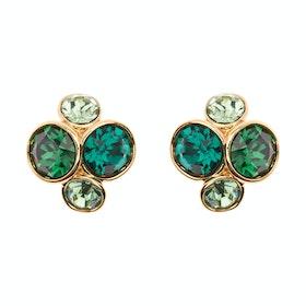 Ted Baker Lynda Jewel Cluster Stud Earrings - Gold/green Multi