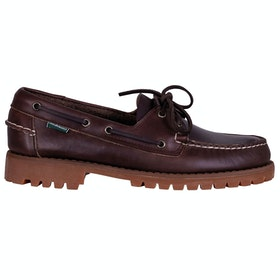 Sebago Portland Lug Waxy Slip On Trainers - Dk Brown Gum