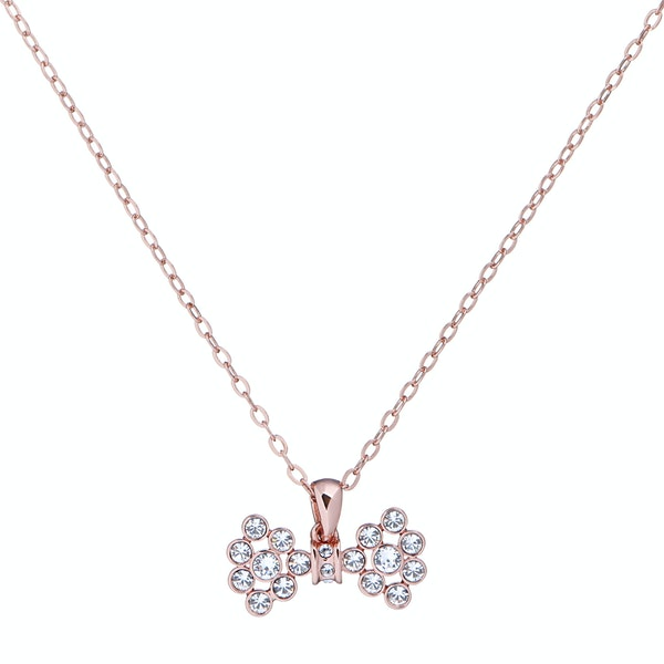 Ted Baker Brizla Small Crystal Bow Pendant Necklace