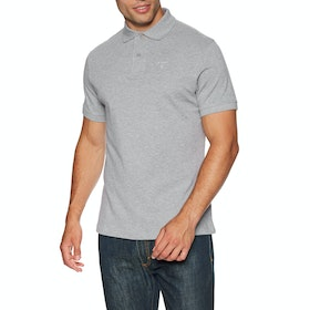Barbour Sports Mens Polo Shirt - Grey Marl