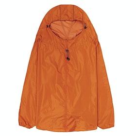 Brooks England Cambridge Hooded Stowable Poncho Waterproof Jacket - Orange