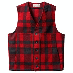 Filson Mackinaw Wool Men's Gilet - Red Black