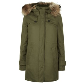 Troy London Troy Parka Women's Jacket - Khaki