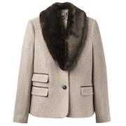 Joules Wiscombe Faux Fur Collar Damen Tweed Jackets