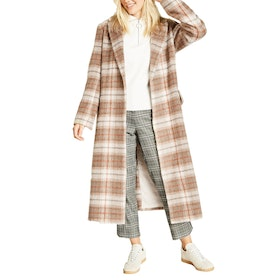 Jack Wills Blythe Long Checked Robe Women's Jacket - Sand