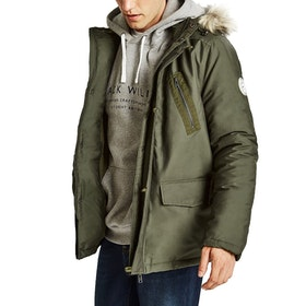Jack Wills Newton Parka Jacket - Olive