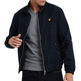 Lyle & Scott Tartan Harrington Jacke - Navy Check