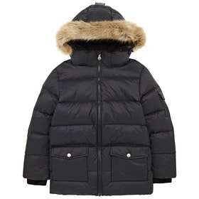 Pyrenex Authentic Mat Synthetic Fur Prošívaná bunda - Black